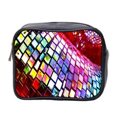 Multicolor Wall Mosaic Mini Toiletries Bag 2 Side by Sapixe