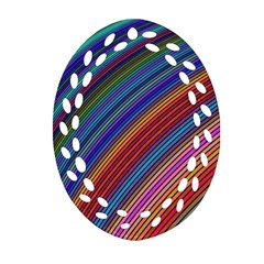 Multicolored Stripe Curve Striped Ornament (oval Filigree)