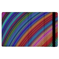 Multicolored Stripe Curve Striped Apple Ipad 3/4 Flip Case by Sapixe