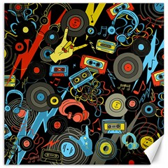 Music Pattern Canvas 20  X 20   by Sapixe