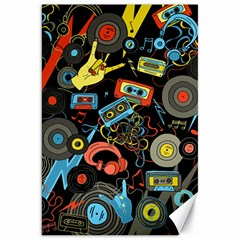 Music Pattern Canvas 20  X 30   by Sapixe