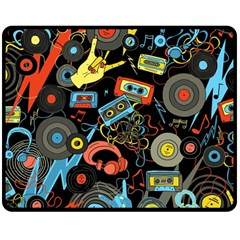 Music Pattern Double Sided Fleece Blanket (medium)  by Sapixe