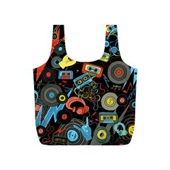 Music Pattern Full Print Recycle Bags (s)  by Sapixe