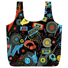 Music Pattern Full Print Recycle Bags (l)  by Sapixe