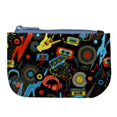 Music Pattern Large Coin Purse