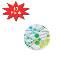 Network Connection Structure Knot 1  Mini Buttons (10 Pack)  by Sapixe