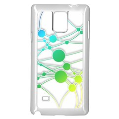 Network Connection Structure Knot Samsung Galaxy Note 4 Case (white)