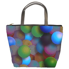 Multicolored Patterned Spheres 3d Bucket Bags