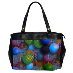 Multicolored Patterned Spheres 3d Office Handbags (2 Sides)  by Sapixe