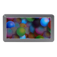 Multicolored Patterned Spheres 3d Memory Card Reader (mini) by Sapixe