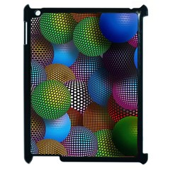 Multicolored Patterned Spheres 3d Apple Ipad 2 Case (black) by Sapixe