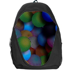 Multicolored Patterned Spheres 3d Backpack Bag