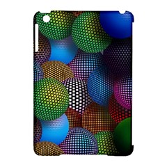 Multicolored Patterned Spheres 3d Apple Ipad Mini Hardshell Case (compatible With Smart Cover)