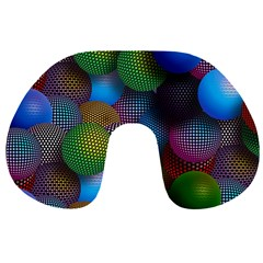 Multicolored Patterned Spheres 3d Travel Neck Pillows by Sapixe