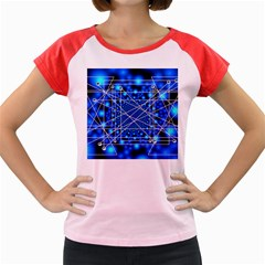 Network Connection Structure Knot Women s Cap Sleeve T Shirt by Sapixe