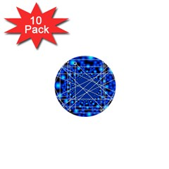 Network Connection Structure Knot 1  Mini Buttons (10 Pack)
