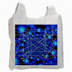 Network Connection Structure Knot Recycle Bag (two Side)  by Sapixe