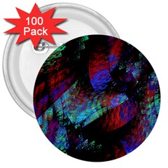 Native Blanket Abstract Digital Art 3  Buttons (100 Pack)  by Sapixe