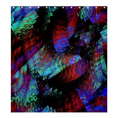 Native Blanket Abstract Digital Art Shower Curtain 66  X 72  (large)