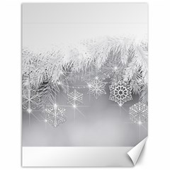 New Year Holiday Snowflakes Tree Branches Canvas 12  X 16   by Sapixe