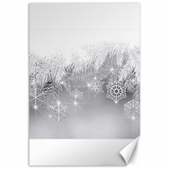 New Year Holiday Snowflakes Tree Branches Canvas 12  X 18   by Sapixe