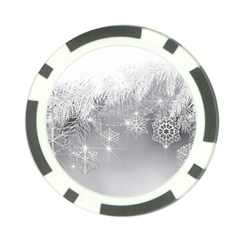 New Year Holiday Snowflakes Tree Branches Poker Chip Card Guard