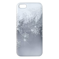 New Year Holiday Snowflakes Tree Branches Apple Iphone 5 Premium Hardshell Case by Sapixe