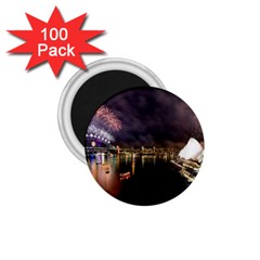 New Year's Evein Sydney Australia Opera House Celebration Fireworks 1 75  Magnets (100 Pack)  by Sapixe