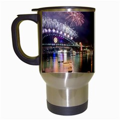 New Year's Evein Sydney Australia Opera House Celebration Fireworks Travel Mugs (white) by Sapixe