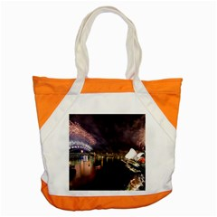 New Year's Evein Sydney Australia Opera House Celebration Fireworks Accent Tote Bag by Sapixe