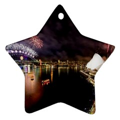New Year's Evein Sydney Australia Opera House Celebration Fireworks Star Ornament (two Sides) by Sapixe