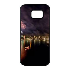 New Year's Evein Sydney Australia Opera House Celebration Fireworks Samsung Galaxy S7 Edge Black Seamless Case