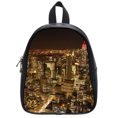 New York City At Night Future City Night School Bag (small) by Sapixe