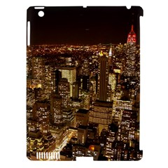 New York City At Night Future City Night Apple Ipad 3/4 Hardshell Case (compatible With Smart Cover) by Sapixe