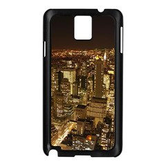 New York City At Night Future City Night Samsung Galaxy Note 3 N9005 Case (black)