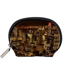 New York City At Night Future City Night Accessory Pouches (small)  by Sapixe