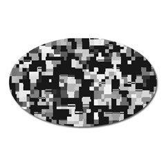 Noise Texture Graphics Generated Oval Magnet
