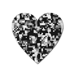 Noise Texture Graphics Generated Heart Magnet by Sapixe