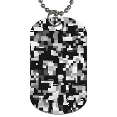 Noise Texture Graphics Generated Dog Tag (one Side)