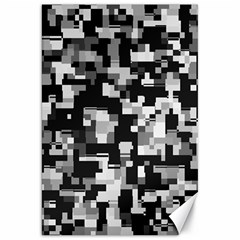 Noise Texture Graphics Generated Canvas 20  X 30   by Sapixe