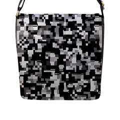Noise Texture Graphics Generated Flap Messenger Bag (l)  by Sapixe