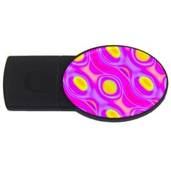 Noise Texture Graphics Generated Usb Flash Drive Oval (2 Gb)