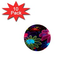 Nice 3d Flower 1  Mini Buttons (10 Pack)