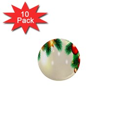 Ornament Christmast Pattern 1  Mini Magnet (10 Pack)