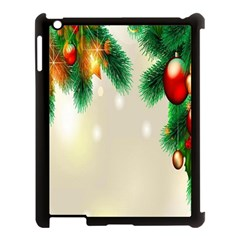 Ornament Christmast Pattern Apple Ipad 3/4 Case (black) by Sapixe