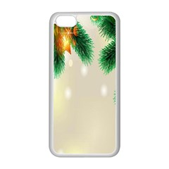 Ornament Christmast Pattern Apple Iphone 5c Seamless Case (white) by Sapixe
