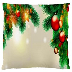 Ornament Christmast Pattern Standard Flano Cushion Case (one Side)