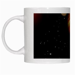 Outer Space Planets Solar System White Mugs by Sapixe