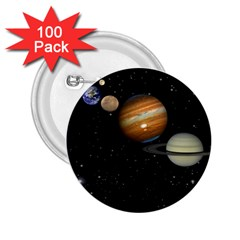 Outer Space Planets Solar System 2 25  Buttons (100 Pack)