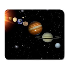 Outer Space Planets Solar System Large Mousepads by Sapixe